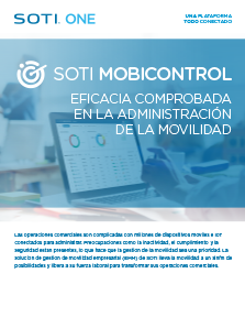 Folleto de SOTI MobiControl